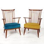 Vintage spijlen fauteuils