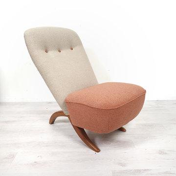 Vintage Artifort fauteuil Congo, opnieuw gestoffeerd