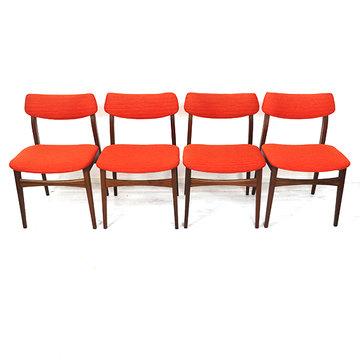 Set oranje stoelen