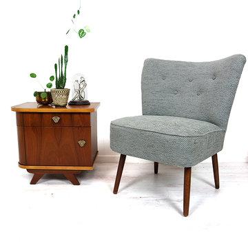 Grijs cocktailstoeltje
