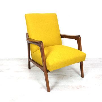 Gele fauteuil