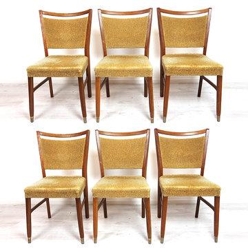 Zes vintage stoelen