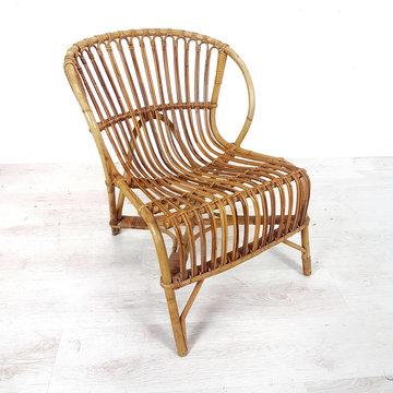 Vintage rotan stoeltje