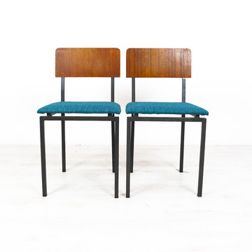 Vintage stoelen, opnieuw gestoffeerd