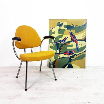 Vintage fauteuil, okergeel