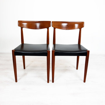 Vintage stoelen, zwart skai