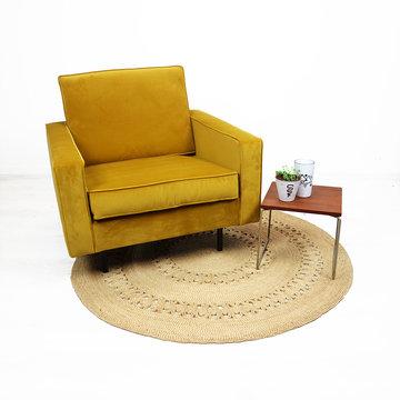 Okergele vintage fauteuil