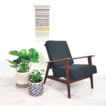 Vintage teakhouten fauteuil