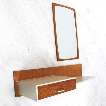 Vintage kaptafel met spiegel, Zweeds Design