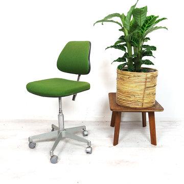 Vintage bureaustoel, groen