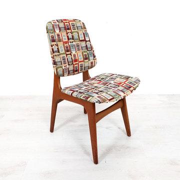 Vintage stoel, bijzondere nieuwe stof