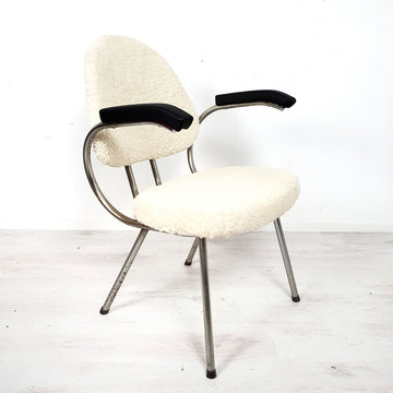 Vintage fauteuil, bekleding 100% wol