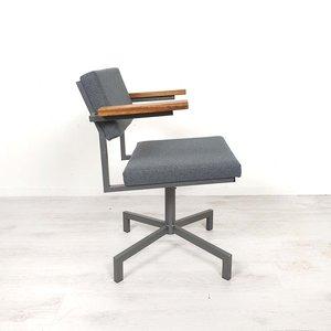 Vintage bureaustoel, nieuwe vulling en stof