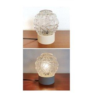 Vintage lamp, bewerkt glas
