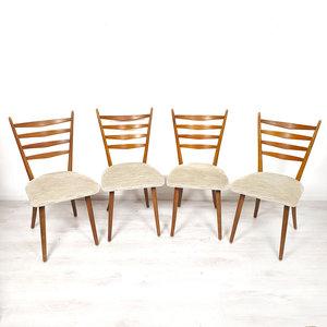 Vintage eetkamerstoelen, vier stuks