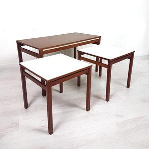 Vintage tafeltjes, set 3 stuks
