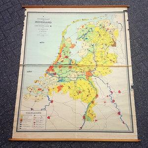 Vintage landkaart, Nederland