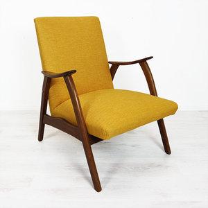 Gele vintage fauteuil webshop en winkel voor toffe en for Tweedehands meubels webshop
