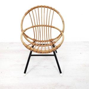 Klein vintage rotan stoeltje