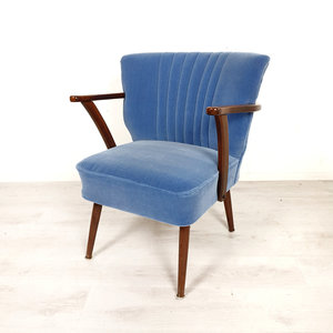 Vintage cocktailstoel met armleuningen
