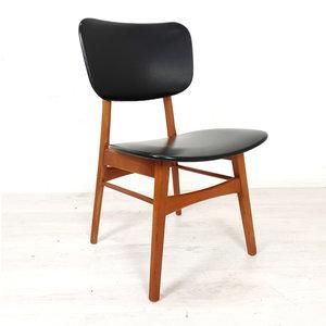 Vintage stoel, zwart skai