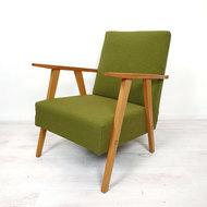 Vintage fauteuil, opnieuw bekleed