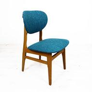 Vintage opnieuw gestoffeerd stoeltje
