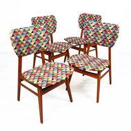 Vintage stoelen, gestoffeerd