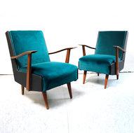 Vintage fauteuils, velours