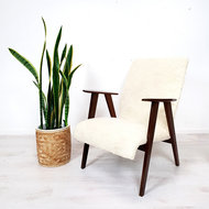 Vintage furry fauteuil