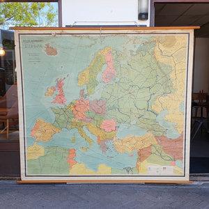 Vintage landkaart Europa, heel groot!