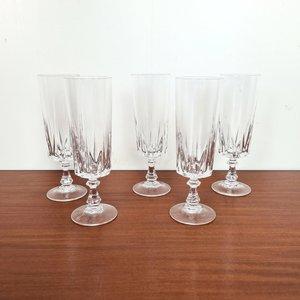 Vintage kristallen champagne glazen