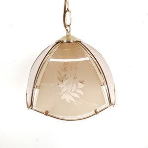 Vintage hanglamp, plantenprint