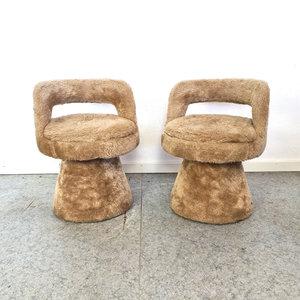 VIntage furry stoeltjes